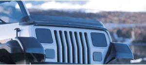 Exterior Accessories - Bug Guards/Hood Shields - Rugged Ridge - Rugged Ridge Bug Deflector, Smoke (1987-06) Jeep Wrangler YJ/TJ