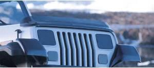 Rugged Ridge Bug Deflector, Smoke (1987-06) Jeep Wrangler YJ/TJ