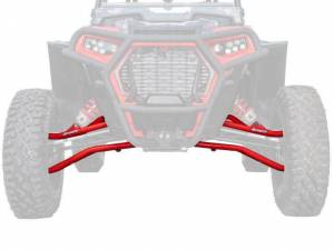 UTV/ATV - UTV Radius Arms - SuperATV - Polaris RZR XP Turbo S High-Clearance A Arms (Red)