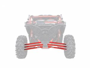UTV/ATV - UTV Radius Arms - SuperATV - Can-Am Maverick X3, 72 inch, Boxed Radius Arms Complete Kit (Red)