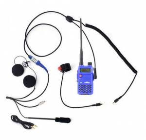 UTV Radios/Audio - Hand Held - Rugged Radios - Rugged Radios RH5R 2-Way Motorcycle UHF/VHF 5 Watt Radio Communication Kit