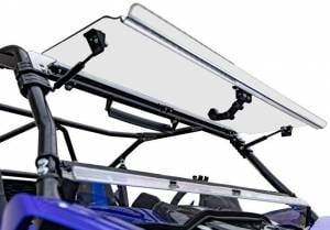UTV Windshield - Flip Windshields - SuperATV - Yamaha YXZ Scratch Resistant Flip Windshield (2019+)