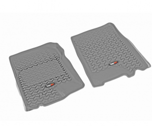 Interior Accessories - Floor Liners/Mats - Rugged Ridge - Rugged Ridge All Terrain Floor Liner, Front Pair, Gray; 97-03 Ford F-150/SUV