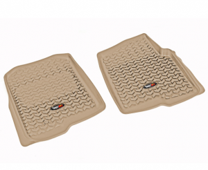 Interior Accessories - Floor Liners/Mats - Rugged Ridge - Rugged Ridge All Terrain Floor Liner, Front Pair, Tan, 04-08 F-150/Lincoln Mark LT