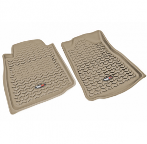 Interior Accessories - Floor Liners/Mats - Rugged Ridge - Rugged Ridge All Terrain Floor Liner, Front Pair, Tan; 05-11 Toyota Tacoma, Automatic