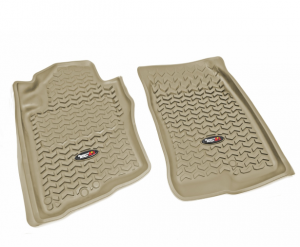 Interior Accessories - Floor Liners/Mats - Rugged Ridge - Rugged Ridge All Terrain Floor Liner, Front Pair, Tan, 05-15 Pathfinder/Xterra