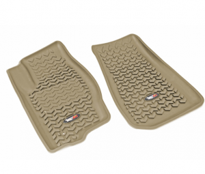 Interior Accessories - Floor Liners/Mats - Rugged Ridge - Rugged Ridge All Terrain Floor Liner, Front Pair, Tan, 05-10 Jeep WK/XK