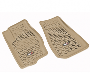 Interior Accessories - Floor Liners/Mats - Rugged Ridge - Rugged Ridge All Terrain Floor Liner, Front Pair, Tan, 07-17 Jeep MK/Dodge Caliber