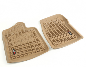 Interior Accessories - Floor Liners/Mats - Rugged Ridge - Rugged Ridge All Terrain Floor Liner, Front Pair, Tan, 07-13 GM Regular Cab Truck