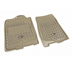 Interior Accessories - Floor Liners/Mats - Rugged Ridge - Rugged Ridge All Terrain Floor Liner, Front Pair, Tan, 07-14 GM Fullsize Pickup/SUV