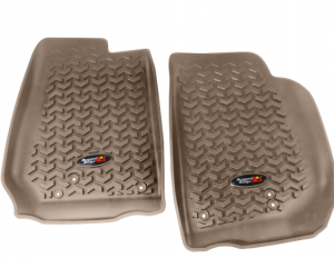 Interior Accessories - Floor Liners/Mats - Rugged Ridge - Rugged Ridge All Terrain Floor Liner, Front Pair, Tan, 07-15 Jeep Wrangler JK