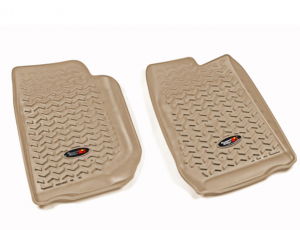 Interior Accessories - Floor Liners/Mats - Rugged Ridge - Rugged Ridge All Terrain Floor Liner, Front Pair, Tan, 07-18 Jeep Wrangler JK/JKU