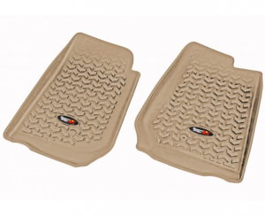 Interior Accessories - Floor Liners/Mats - Rugged Ridge - Rugged Ridge All Terrain Floor Liner, Front Pair, Tan, 07-18 Jeep Wrangler JK/JKU RHD