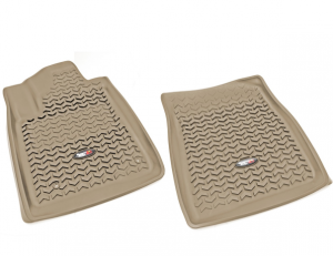 Interior Accessories - Floor Liners/Mats - Rugged Ridge - Rugged Ridge All Terrain Floor Liner, Front Pair, Tan, 08-11 Toyota Sequoia/Tundra