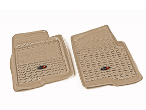 Interior Accessories - Floor Liners/Mats - Rugged Ridge - Rugged Ridge All Terrain Floor Liner, Front Pair, Tan, 09-10 Ford F-150 Ext/Reg/SuperCrew