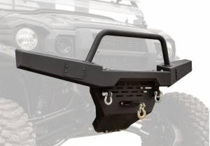 UTV Accessories - UTV Bumpers - SuperATV - Kawasaki Mule Pro Winch Ready Front Bumper