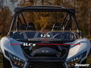 SuperATV - Kawasaki Teryx KRX 1000,Half Windshield  (Standard Polycarbonate) Clear - Image 6