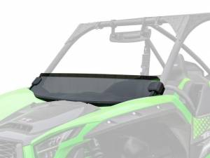 UTV Windshield - Half Windshields - SuperATV - Kawasaki Teryx KRX 1000, Half Windshield  (Standard Polycarbonate) Dark Tint