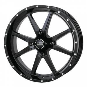 UTV Tires/Wheels - Wheels - Frontline Tires - Frontline All Terrain 556, Black, UTV Wheels - 20x 6.5 wheels, (4/156) 4+2.5 Offset,+10mm