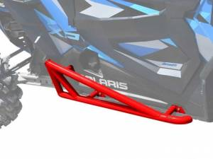 UTV/ATV - UTV Rock Sliders/Nerf Bars - SuperATV - Polaris RZR XP Turbo Nerf Bars, 2 Seater, *Red* (2016-19)