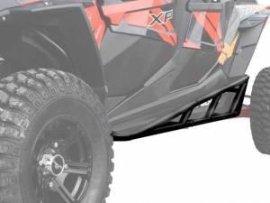 UTV/ATV - UTV Rock Sliders/Nerf Bars - SuperATV - Polaris RZR XP Turbo Nerf Bars, 4 Seater, *Black* (2016-19)