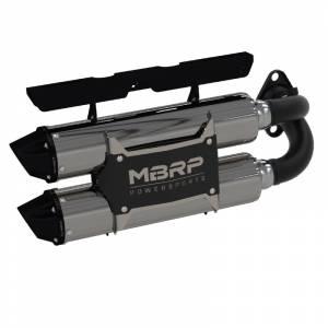 UTV Accessories - UTV Exhaust - MBRP PowerSports - MBRP Powersports, RZR XP 1000 / RZR RS1, Performance Series Dual Slip-on (2018-20)