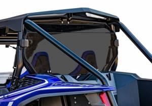 UTV Windshield - Rear Windshields - SuperATV - Honda Talon 1000, Rear Windshield, Standard Polycarbonate- Dark Tint