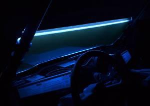 UTV/ATV - Off Road Lighting - SuperATV - LED Windshield Light Strips- BLUE
