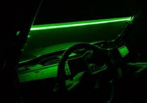 UTV/ATV - Off Road Lighting - SuperATV - LED Windshield Light Strips- GREEN