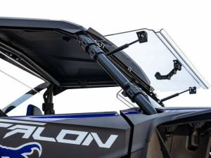 UTV Windshield - Full/ Vented Windshields - SuperATV - Honda Talon 1000 Scratch Resistant Flip Windshield