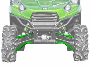 "UTV/ATV - UTV Radius Arms - SuperATV - Kawasaki Teryx High Clearance 1.5"" Forward Offset Front A Arms (2012-20) (Green)"