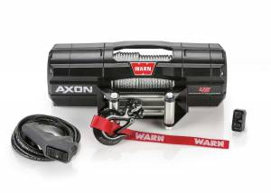 UTV Accessories - UTV Winches/Recovery Ropes - Warn - Warn AXON 45 POWERSPORT WINCH, 4500 lbs (Cable)