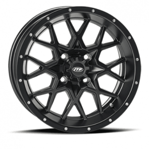 ITP Tires - ITP, Hurricane Matte Black, UTV Wheels - 14x7 wheels, (4/110) 5+2 Offset