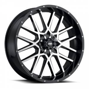 "ITP Tires - ITP, Hurricane Gloss Black/Machined, UTV Wheels - 20x6.5"" wheels, (4/137) 4+2.5 Offset"