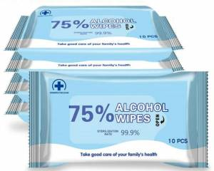 Featured Products - 75% Alcohol Disinfection Wipes, 200 Wipes (20 Packs of 10 wipes) ($0.17 each)