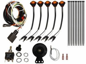 UTV Accessories - UTV Turn Signal Kits/ Electrical - SuperATV - Kawasaki Mule Pro Plug & Play Turn Signal Kit (Toggle Switch and Dash Horn)