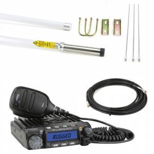 Electronic Accessories - VHF/UHF Radios - Rugged Radios - Rugged Radios RM-60 VHF Mobile Radio With Fiberglass Antenna Base Kit