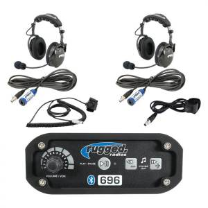 UTV Radios/Audio - Car Kits - Rugged Radios - Rugged Radios RRP696 2-Place Intercom with AlphaBass Headsets