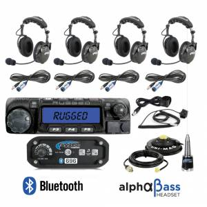 Electronic Accessories - VHF/UHF Radios - Rugged Radios - Rugged Radios RRP696 4-Place Intercom with 60 Watt Radio and BTU Headsets