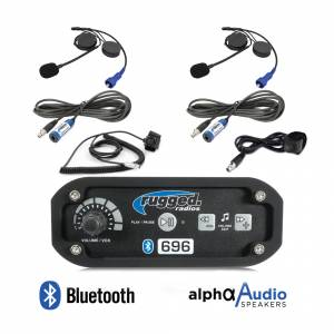 Rugged Radios - Rugged Radios RRP696 2-Place Intercom System with Alpha Audio Helmet Kits