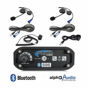Electronic Accessories - VHF/UHF Radios - Rugged Radios - Rugged Radios RRP696 2-Place Intercom System with Alpha Audio Helmet Kits