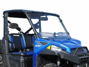 UTV Windshield - Full/ Vented Windshields - SuperATV - Polaris Ranger XP 570 Scratch Resistant Vented Full Windshield