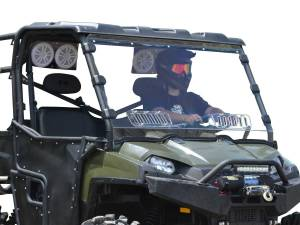 UTV Windshield - Full/ Vented Windshields - SuperATV - Polaris Ranger Full Size 570 Scratch Resistant Vented Full Windshield