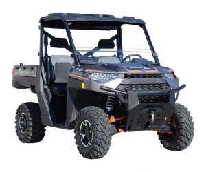 UTV Windshield - Half Windshields - SuperATV - Polaris Ranger XP 900 Half Windshield, Standard Polycarbonate- Dark Tint