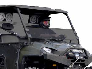 UTV Windshield - Half Windshields - SuperATV - Polaris Ranger 900 Diesel Half Windshield (Standard Polycarbonate) Dark Tint