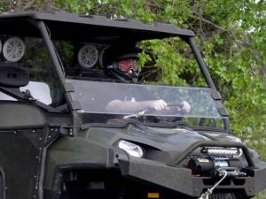 UTV Windshield - Half Windshields - SuperATV - Polaris Ranger Full Size 570 Half Windshield (Scratch Resistant Polycarbonate) Clear