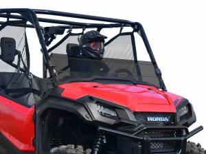 UTV Windshield - Half Windshields - SuperATV - Honda Pioneer 1000 Scratch Resistant Half Windshield (Standard Polycarbonate) -Dark Tint