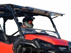 UTV Windshield - Flip Windshields - SuperATV - Honda Pioneer 1000 Scratch Resistant Flip Windshield