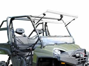 UTV Windshield - Flip Windshields - SuperATV - Polaris Ranger 900 Diesel Scratch Resistant Flip Windshield