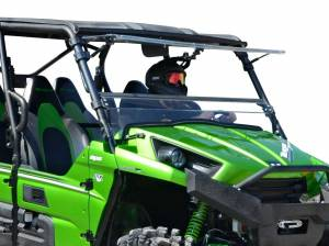 UTV Windshield - Flip Windshields - SuperATV - Kawasaki Teryx 750 / 800 Scratch Resistant Flip Windshield (2012-2015)